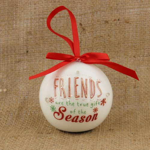 LED Personalised Christmas Bauble for Friends Christmas Gift with inspirational message